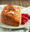 Almond Danish pastry on plate