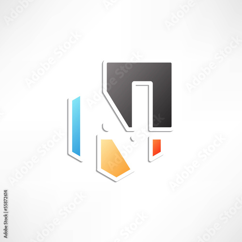 Abstract icon based on the letter