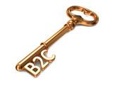 B2C - Golden Key. poster