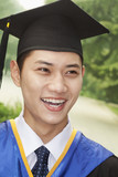 Young Man Graduating From University, Close-Up Portrait