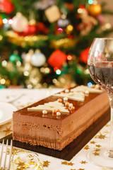 Christmas food on table