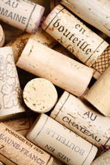 Wine cork background with copy space