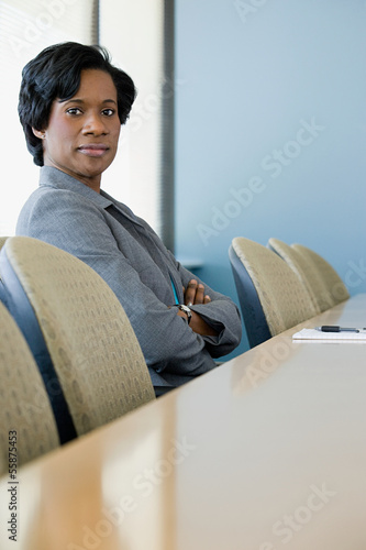 Businesswoman in boardroom