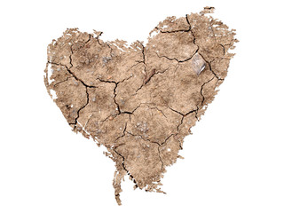 Heart Shape on Soil Background