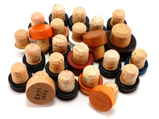 Large group of scotch corks