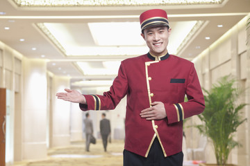 Portrait of Bellhop, Greeting