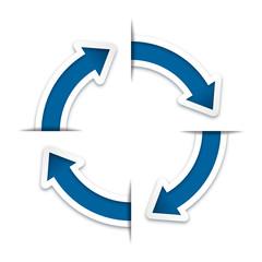 Rotating Arrow ( Infographic design template )