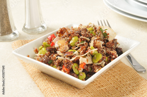 California red quinoa salad