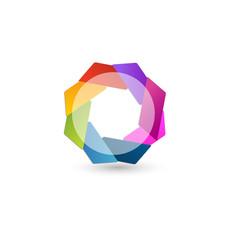 Abstract geometric logo icon vector