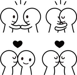 愛情表現のアイコン