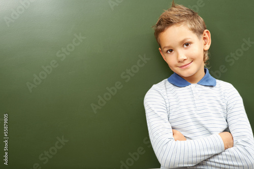 Boy at blackboard
