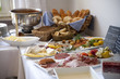 Leinwandbild Motiv Frühstück im Hotel