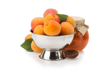 apricot on white background