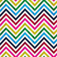colorful seamless zig zag vector pattern