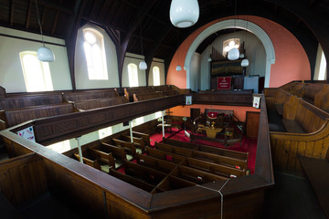 Jarrow Park Methodist church from the top pews