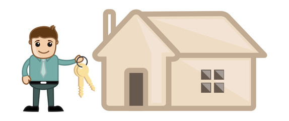 Home Loan - Business Cartoon