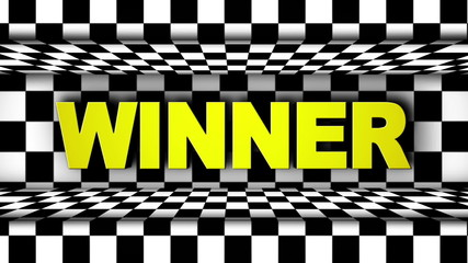 Winner in Checker Door (2 Versions)