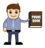 Showing Phone Book Directory - Business Cartoon poster