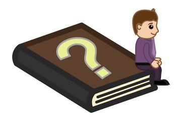 FAQ Book - Business Cartoon