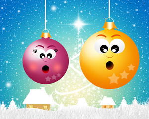 Christmas balls cartoon