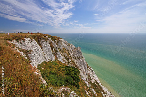 chalk cliffs in national park seven sisters, england