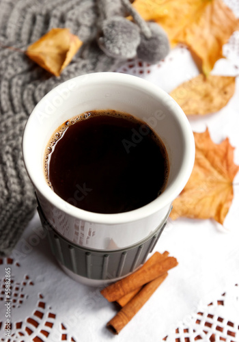 Morning autumn coffee