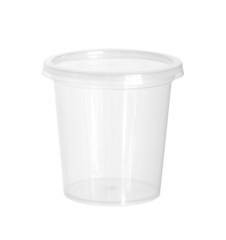 Plastic food cup (with clipping path) isolated on white backgrou