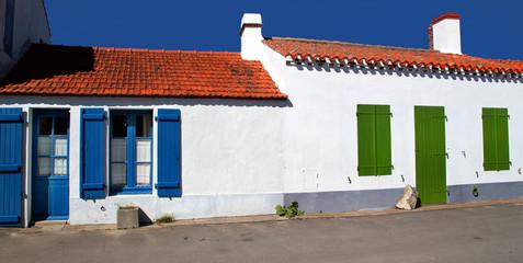 Maisons colorées.