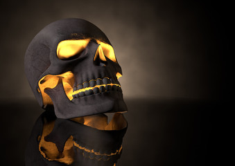 Evil Glowing Skull Perspective