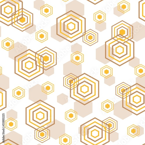 Vector fashion illustration of geometric seamless pattern