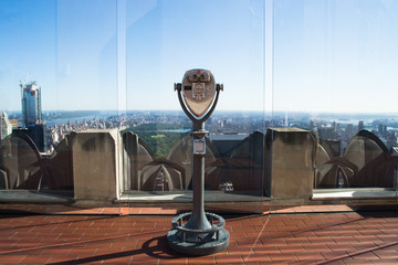binoculars on the rockefeller center