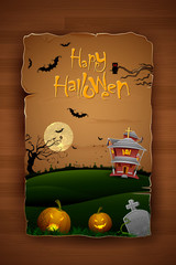 Haunted House in Halloween Night