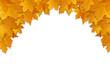 Hintergrund goldenes Laub / Herbst