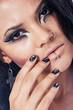 Beautiful woman. Fashion portrait. Close-up face makeup