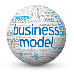 """BUSINESS MODEL"" Tag Cloud Globe (strategy project management)"