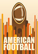 Colorful american football poster.