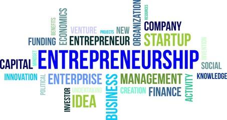 word cloud - entrepreneurship