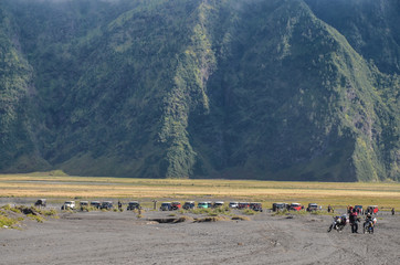 Landscape near mount Bromo, Java, Indonesia