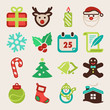 Christmas colorful flat icons