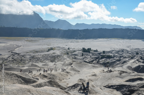 Sea of sand, Bromo, Java, Indonesia