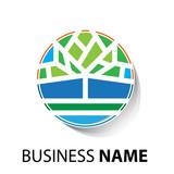 Vector Logo Organic farming, Greengrocer