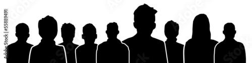 Menschen Köpfe Silhouette