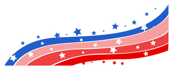 Wave Design - 4th of july Vector