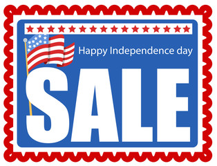 sale stamp - 4th of july Vector