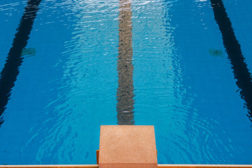Platform, the starter point of swimming