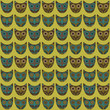 Wise owl on seamless background