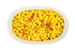 Corn with peppers in bowl