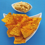 tortilla chips and hummus