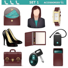 Vector Female Accessories Set 1