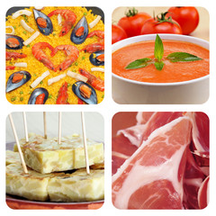 spanish dishes and tapas collage